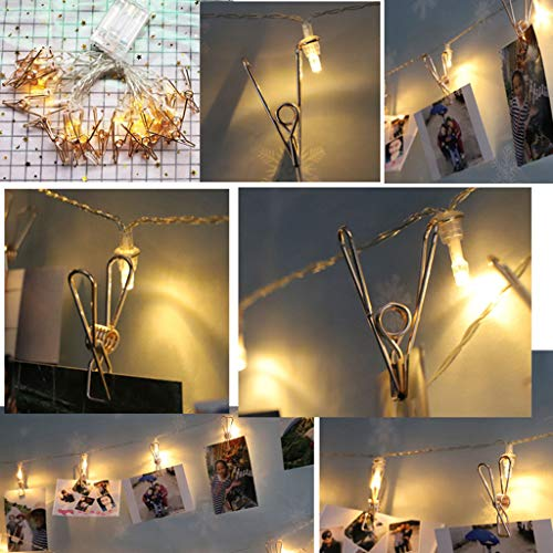 BeautyShe 5.9Ft 20LEDs Waterproof Starry Fairy Copper Lights, USB Powered for Bedroom Indoor Outdoor Warm White Ambiance Lighting for Patio Halloween Thanksgiving Christmas Party Wedding Decor]()