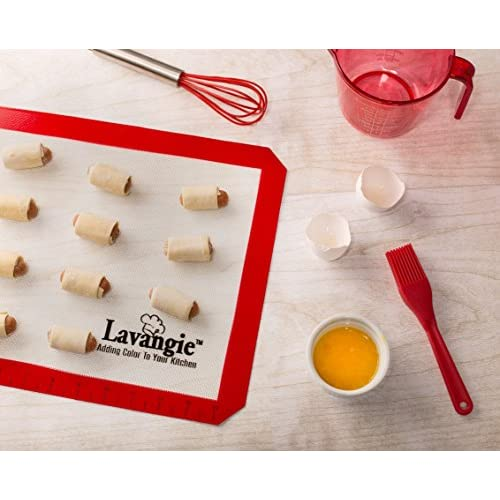 Silicone Baking Mat Set - Set of 2 Professional Quality Heat Safe Nonstick Mats & Liners for Cookie Sheets & Baking Pans