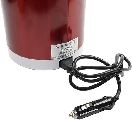 Balscw Mini Olla Arrocera De 12 V Y 24 V, Camiones De Coche De 1,6 L, Máquina De Cocción De Gachas De Sopa Eléctrica, Calentador De Alimentos, Fiambrera De Calentamiento Rápido