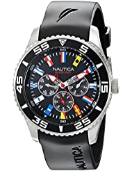Nautica Mens N12626G NST 07 Flags Classic Stainless Steel Watch