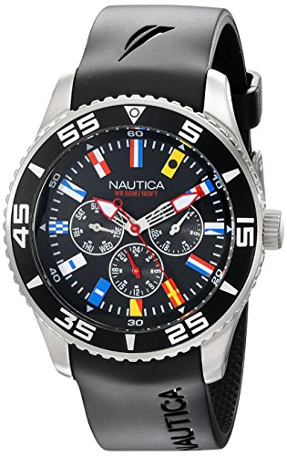 Nautica Men's N12626G NST 07 Flags Classic Stainless Steel (Dial Flag Bezel)