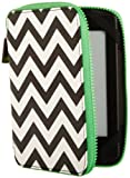 PUNCHCASE - Ace Zip Around - Housse - Chevron noir et blanc [est compatible avec Kindle (5�me et 7�me g�n�ration), Kindle Paperwhite (5�me et 6�me g�n�ration), et Kindle Touch (4�me g�n�ration)]