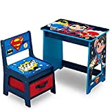 DC Super Friends Kids Wood Desk and Chair Set by Delta Children
