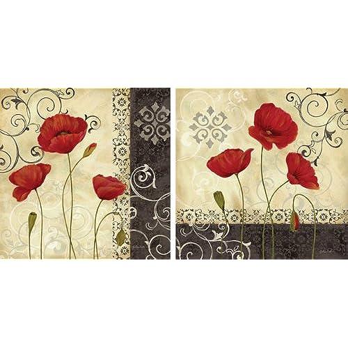 Red Poppy Wall Art: Amazon.com