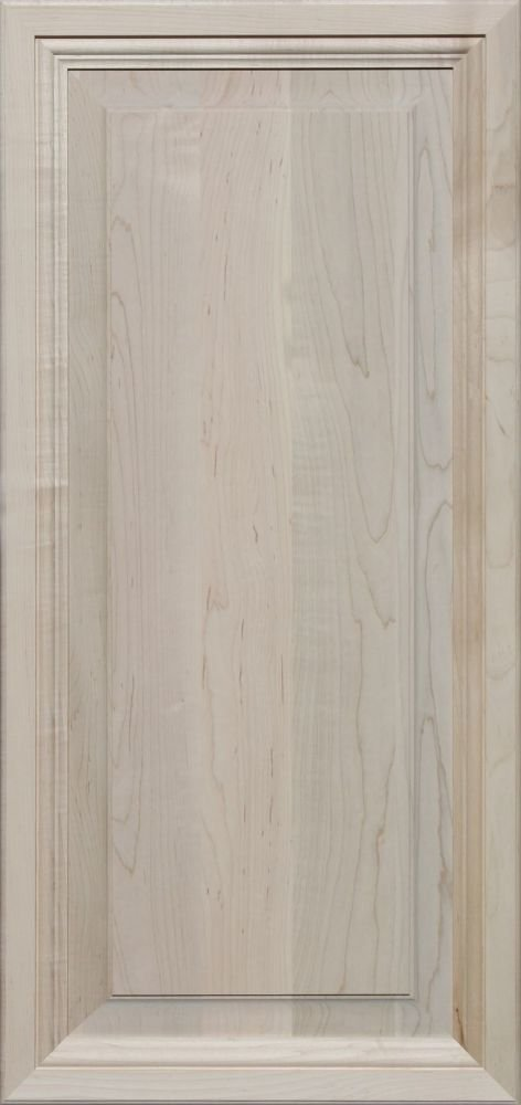 Unfinished Maple, Mitered Raised Panel Cabinet Door by Kendor, 36H x 17W