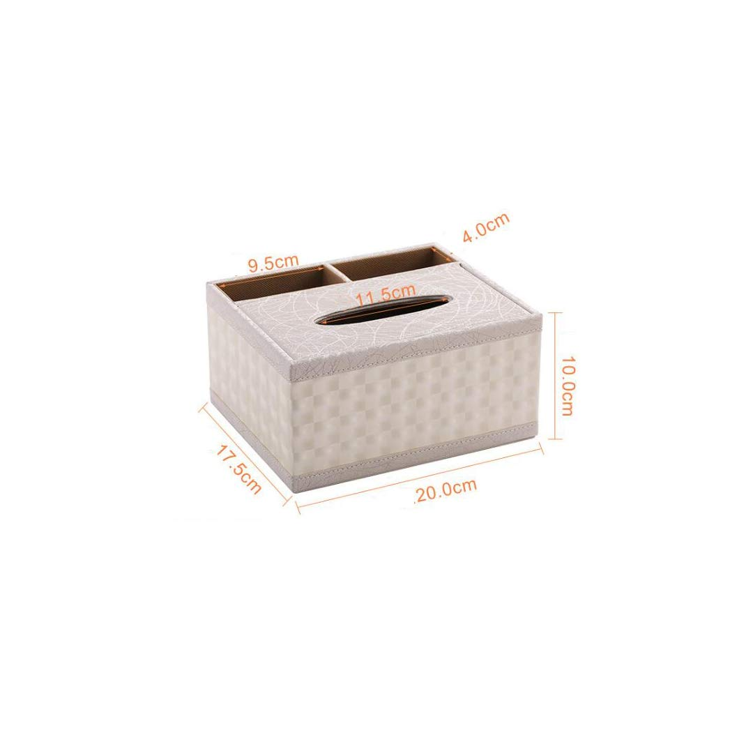 ETERLY Multi-Function Tissue Box European Creative Home Living Room Tray Tray Remote Control Storage Box Simple Length 20cm X Width 17.5cm X Height 10cm Tissue Box (Color : C)