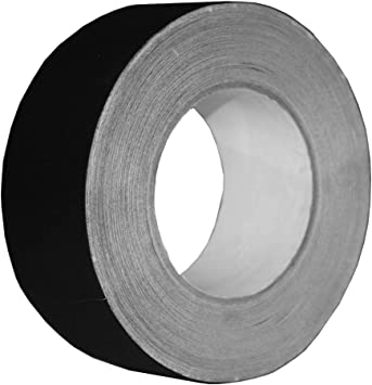 Gaffers Tape 2 in x 30 Yard Roll Black Abrasion Resistant Rubber Adhesive New