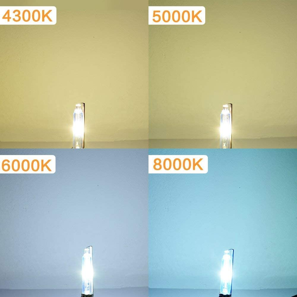 Pack of 2 Car Auto Xenon Headlights D1S HID Lamps Replacement Bulb High Brightness 5000K Bright White Metal Chassis 35W 12V