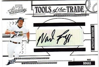 (2005 Playoff Absolut Tools Of Trade Wade Boggs Auto 1/1)