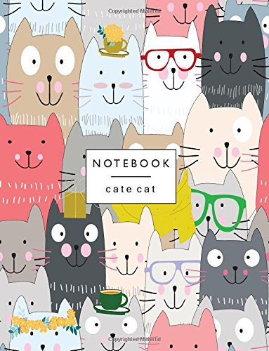 Notebook By: Cute cats Lined pages, Extra large (8.5 x 11) inches, 110 pages, White paper (Cute cats notebook) (Volume 5)