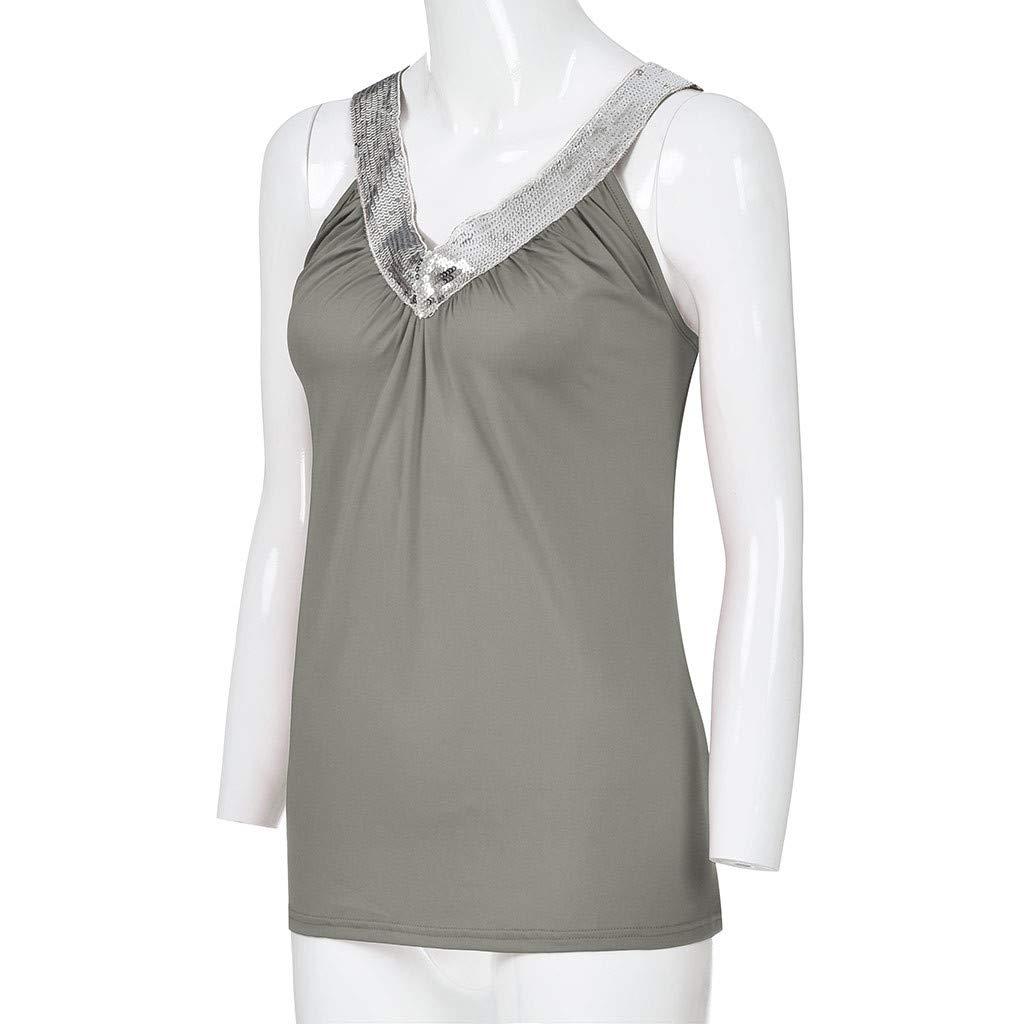 Women Cami Tank Blouse Casual Shirt Top Summer Sleeveless Casual Hole Tank Tops Back Closure Blouse Shirts