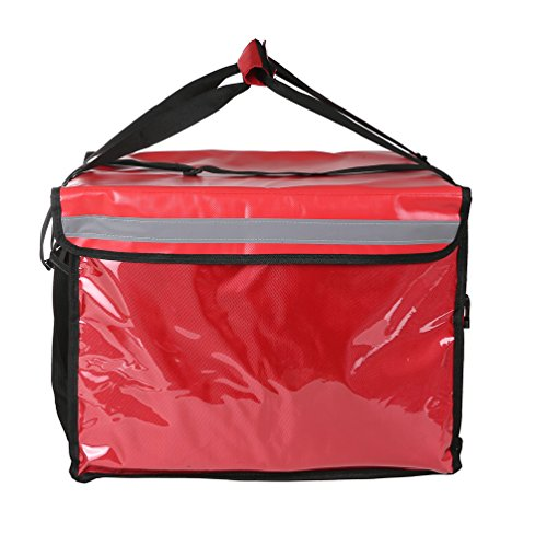 The New Commercial Insulated Food Delivery Bag with Partition Board,19.5''×15''×14.5'' (Red),Professional Takeaway Package,Hot/Cold Insulated Carrier Bag,Thick Thermal Insulation by Backerysupply