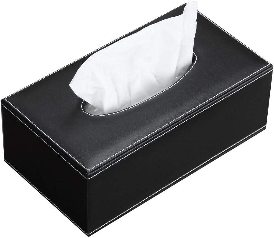 Headrest Holder Leather Napkin Bag Paper  Cover Tissue  Storage Box Organizer