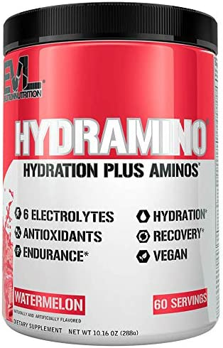 HYDRAMINO Complete Hydration Multiplier, All 6 Electrolytes, Vitamin C B, Fluid Boosting Aminos, Coconut Water, Endurance Recovery, Immunity Support, Antioxidants, 0 Sugar, 60 Serve, Watermelon