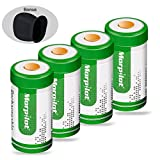 Morpilot 4Pcs RCR123A Rechargeable Arlo Camera Batteries, 700mAh Protected Rechargeable Li-ion Batteries with Camera Skin and Battery Case for Arlo VMS3030/3230/3330/3430 Cameras