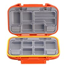 OFKP? 12 Compartments Storage Case Fly Fishing Lure Spoon Hook Bait Tackle Box Waterproof (Orange)