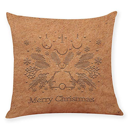 Moserian Christmas Emboss Printing Cushion Cover Sofa Home Car Pillow Case