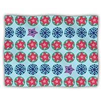 Kess InHouse Jane Smith 'Seasons Winter' Blue Red Dog Blanket, 40 by 30-Inch