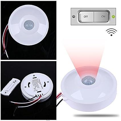 whitelotous IR Cuerpo sensor de movimiento por infrarrojos automático lámpara de pared techo interruptor de control