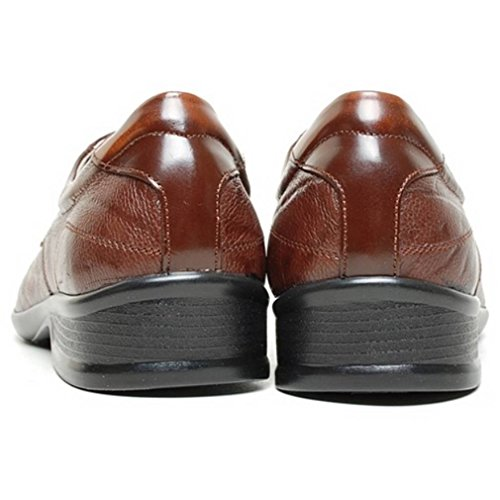 Epicstep Mens In Vera Pelle Elegante Abito Formale Business Casual Comfort Stringate Scarpe Oxfords Mocassini Marrone