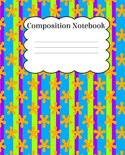 Composition Notebook: Primary Fun Bright Colors Notebook With Wide Ruled Composition Paper For Back To School