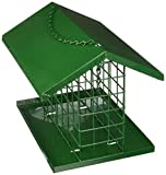 C & S Products Easy Fill Deluxe Snak/Suet Feeder with Roof and Platform
