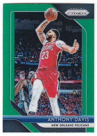 c9cf1f33d4d8 2018-19 Panini Prizm Green Refractor  177 Anthony Davis New Orleans  Pelicans Official NBA