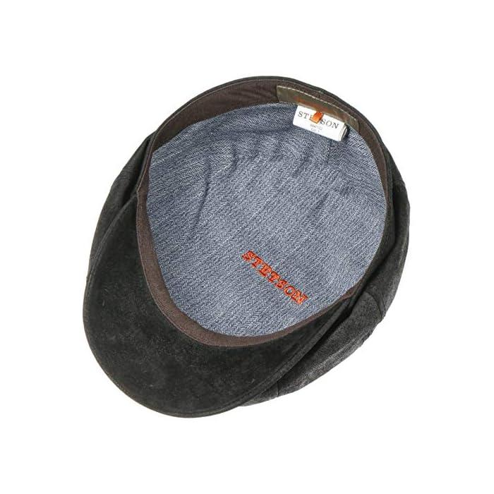 51cENSUkCCL 100 % CUERO AUTÉNTICO // Esta estilizada gorra de caballero está fabricada con cuero vintage seleccionado (piel de cerdo) y destaca por la calidad de su confección y su diseño FORRO DE ALGODÓN 100 % // Esta gorra plana de cuero de primera categoría debe su excelente comodidad a un forro de algodón de calidad excelente 100% Cuero