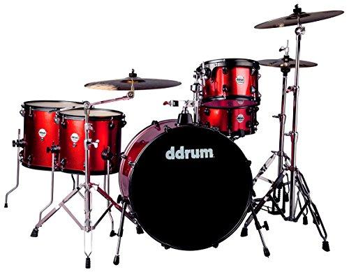 ddrum J2R 524 RSP Piece Drum Set, Red ()