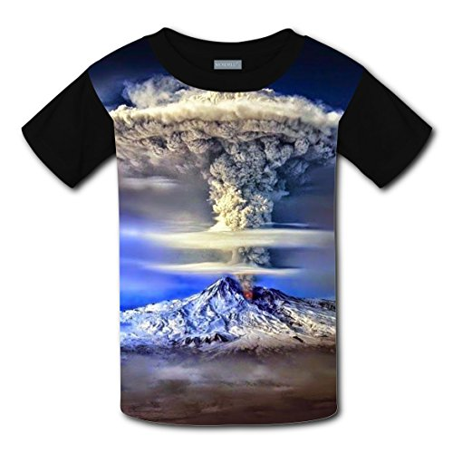 Clouds Cluster T-shirts 3D Graphic Round Neck Tees for Teen Boys Girls