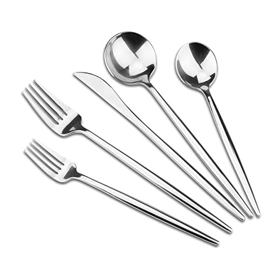 Silverware Set1810 Aoosy Luxury Modern 20 Pieces 1810 Stainless