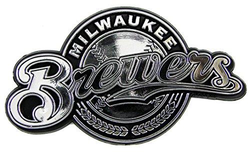 MLB Milwaukee Brewers Chrome Automobile Emblem (Car Mlb Brewers Milwaukee)