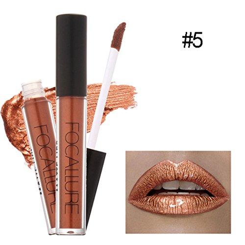 Price comparison product image Asatr Women Fashion Cosmetics Metallic Lip Gloss Lipstick Matte Lipgloss Super Long Lasting
