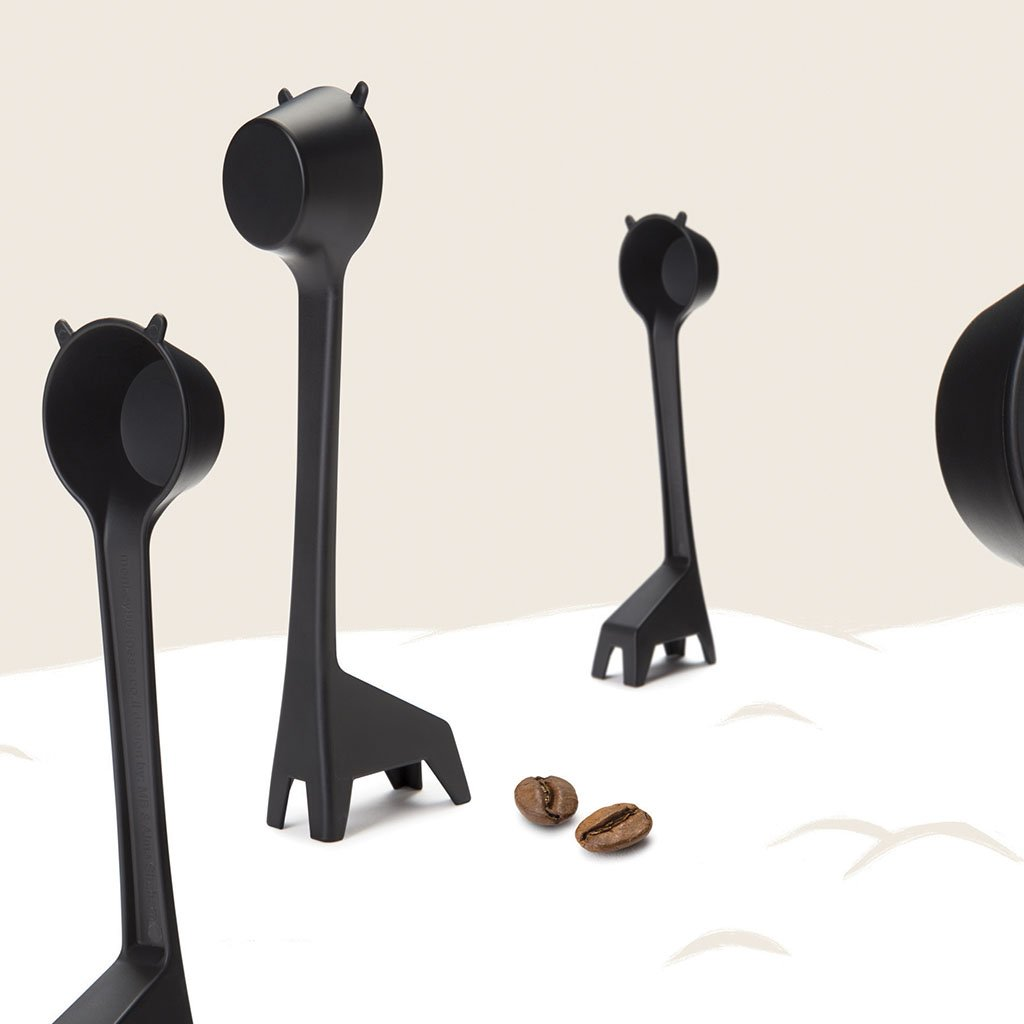 Lungo Long Handled Coffee Measure Scoop, Novelty Measuring Spoon, Black Plastic, by Monkey Business by Monkey Business (Image #5)