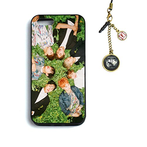 Fanstown BTS KPOP in the mood for love iphone5/5s case + Dust plug charm