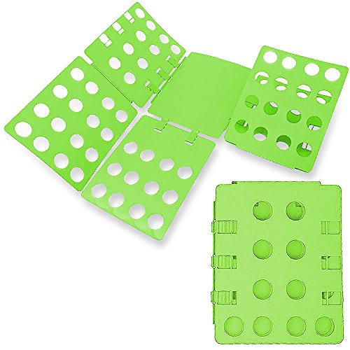 Easy Folder - WYZworks Adjustable Adult Magic Fast Folder Clothes T-Shirts Folding Board (Green)