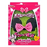 "Minnie Mouse ""Ears & Bows"" 3-Pack Novelty Headwraps - pink/black, 0 - 24 months"