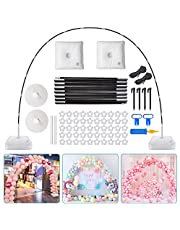 Chamvis Balloon Arch Kit,9FT Tall & 10Ft Wide Adjustable Balloon Stand with Water Fillable Base,50Pcs Balloon Clips,Balloon Pump Knotter-for Wedding Birthday Party Supplies Decorations