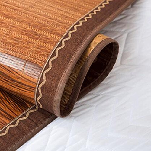 Zzaini Double Sided Summer Sleeping Mat, Folding Topper Pad Rattan Topper Pad-B 180x200cm(71x79inch) by Zzaini (Image #4)