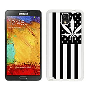 Unique And Durable Designed Case With Usa Weed Flag White For Samsung Galaxy Note 3 N900A N900V N900P N900T Phone Case
