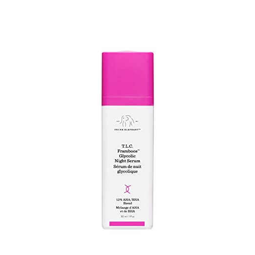 Drunk Elephant T.L.C. Framboos Glycolic Night Serum - Skin Care Brightening Night Serum (30ml/ 1 fl oz) best night serum