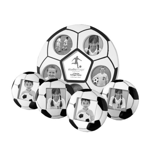 Studio Silversmiths 5 Piece Soccer Photo Frame Set (Soccer Ball Photos)