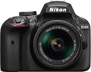 Nikon Cámara Reflex D3400 con lente AF-P DX NIKKOR 18-55mm f/3.5-5.6G VR color negro