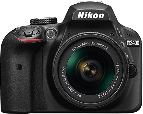 Nikon D3400 DSLR Camera with AF-P DX NIKKOR 18-55mm f/3.5-5.6G VR