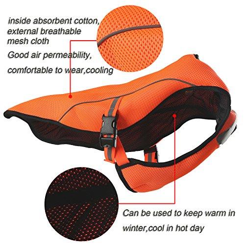 smartelf Swamp Cooler, Dog Hunting Vest Safety Reflective Dog Cooling Vest for Dogs-L