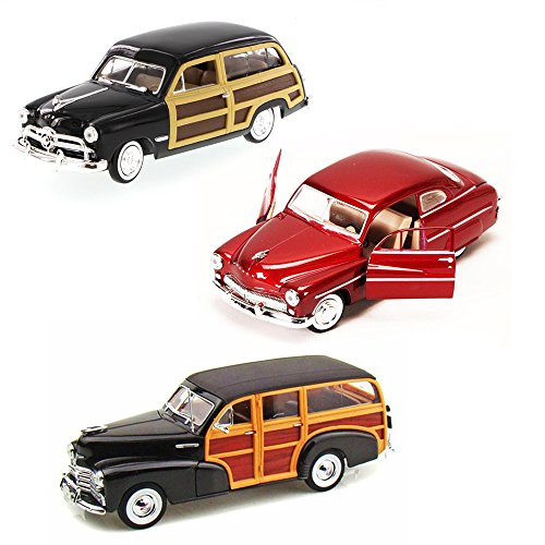 Best of 1940s Diecast Cars - Set 28 - Set of Three 1/24 Scale Diecast Model Cars ()