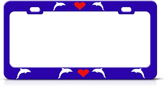 UNITED STATES AIR FORCE MOM Metal License Plate Frame Tag Border Two Holes