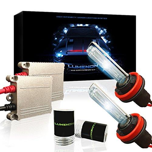 Lumenon HID Xenon Conversion Headlight Kit 2 Year Warranty (SMF) (H11 H9 H8, 6000k Diamond (Saturn Relay Diamond)