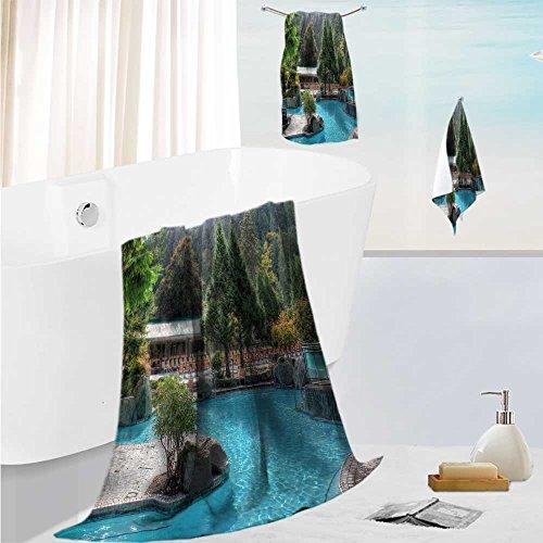 (AmaPark large luxury bath towel set Charming Harrison For Home Spa Pool Gym Use 13.8