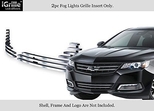 APS Fits 2014-2018 Chevy Impala LTZ Stainless Steel Fog Light Cover Billet Grille #C65947C Chevy Impala Billet Grille